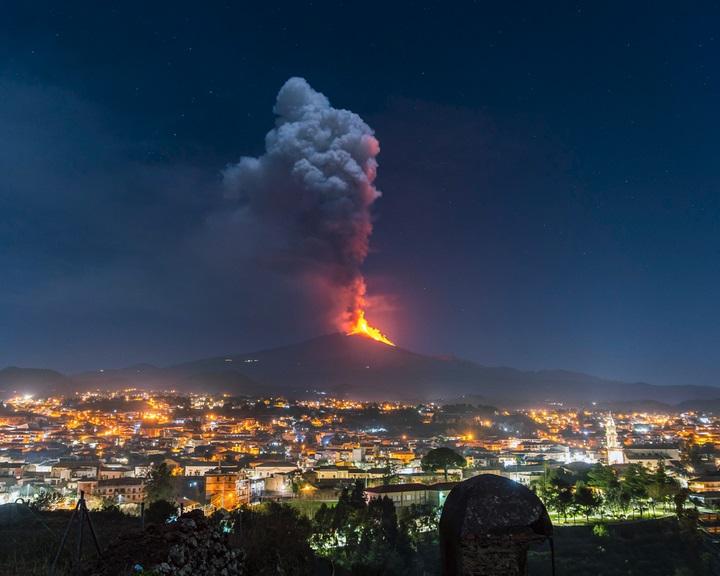 Az Etna kitörése okozott kiugró kén-dioxid-szennyezést